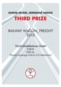 DIPLOMER 6, Rail Wagon Frieght, Third Prize, TILLIG Modellbahnen GmbH