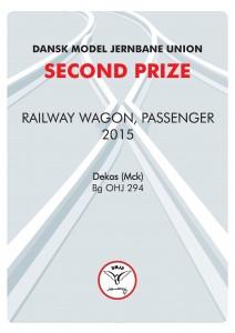 DIPLOMER 8, Rail Wagon Passenger, Second Prize, Dekas-Mck