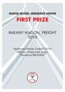 DIPLOMER 4, Rail Wagon Freight, First Prize, Kystbanen-Hobby Trade