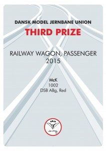 DIPLOMER 9, Rail Wagon Passenger, Third Prize, Mck